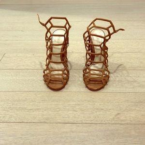 Schutz size 9 cage heels